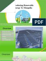 Introducing Renewable Energy To Mongolia