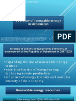 Overview of renewable energy in Uzbekistan