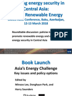 Policies to Promote Renewable Energy and Enhance Energy Security in Central Asia