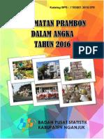 Kecamatan Prambon Dalam Angka 2016