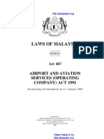 Act 467 Airport and Aviation Services Operating Company Act 1991
