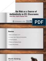 Using the Web as a Source of Authenticity in EFL Classrooms