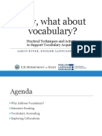 Hey, What About Vocabulary? Practical Techniques and Activities to Support Vocabulary Acquisition