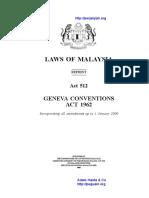 Act 512 Geneva Conventions Act 1962