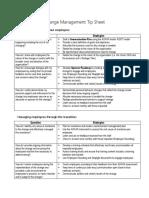 Change Management Tip Sheet