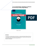 0190405759 an Introduction to Scholarship Building Academic