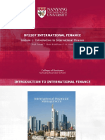 E-lecture Series 1-Introduction to International Finance