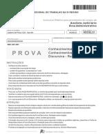 Fcc 2013 Trt 5 Regiao Ba Analista Judiciario Area Administrativa Prova