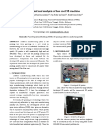 Development and Analysis of Low Cost 3d Machine