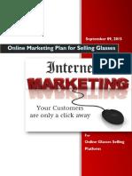 Online Glasses Platform Marketing Plan