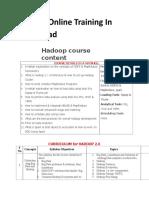 Hadoop Online Training in Hyderabad