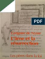 (Les Pères Dans La Foi 073) Grégoire de Nysse_ Bernard Pottier, Christian Bouchet-L'Âme Et La Résurrection-Migne