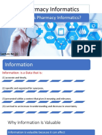 What Is Pharmacy Informatics?