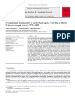 A Longitudinal Examination of Intellectual Capital Reporting in Marks and Spencer Annual Reports