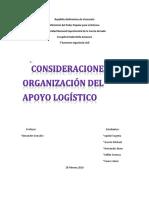 Consideraciones y Organizacion Del Apoyo Logistico (1)
