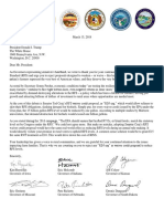 Gov Letter to Potus March 2018