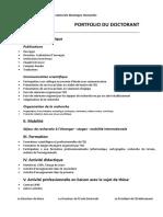 Portfolio Du Doctorant