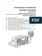GX3000S Owners Manual