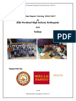 Amar  A Grassroots volunteers' Report of ZPHS School Activities 2016 -  2017