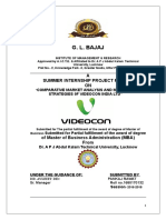 COMPARATIVE MARKET ANALYSIS AND MARKETING STRATEGIES 0F VIDEOCON INDIA LTD.doc