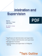 Admin and Supervision