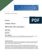 COFFEE 2009 USAD Ecoador Coffee Annual Report