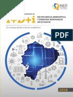 INER, Análisis de las oportunidades de I+D+i en eficiencia energética y energías renovables en Ecuador