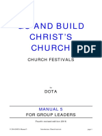 -Go and Build Christ's Church. Manual 5. Church Festivals [Eng]