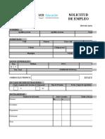 _solicitud de Empleo Formato