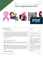 Enfermedades Crónico Degenerativas (ECD)