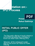 A Presentation on Ipo