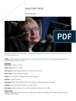 Stephen Hawking Fast Facts - CNN