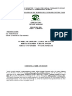 Summer Training Report Submitted Towards the Partial Fulfillment of Post Graduate Degree in Inter