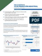Boletín Sectores Económicos Índice de Producción Industrial (Ipi) Enero 2018