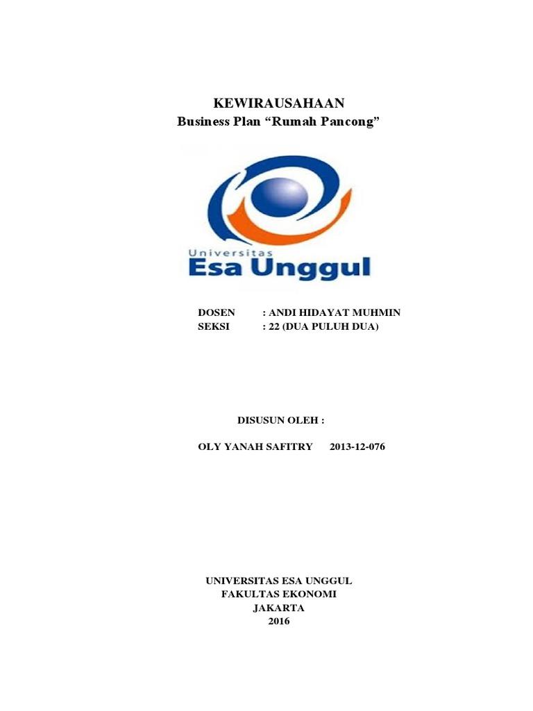 Contoh Proposal Bisnis Pancong