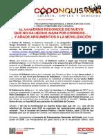 2389047-Comunicado CCOO Respuesta Gobierno a Senado Compromis 2018