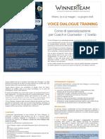 brochure voice dialogue training 2018