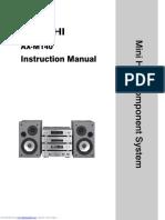 Hitachi Axm140 Instruction Manual