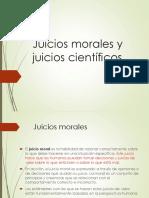 Juicios Morales y Juicios Científicos