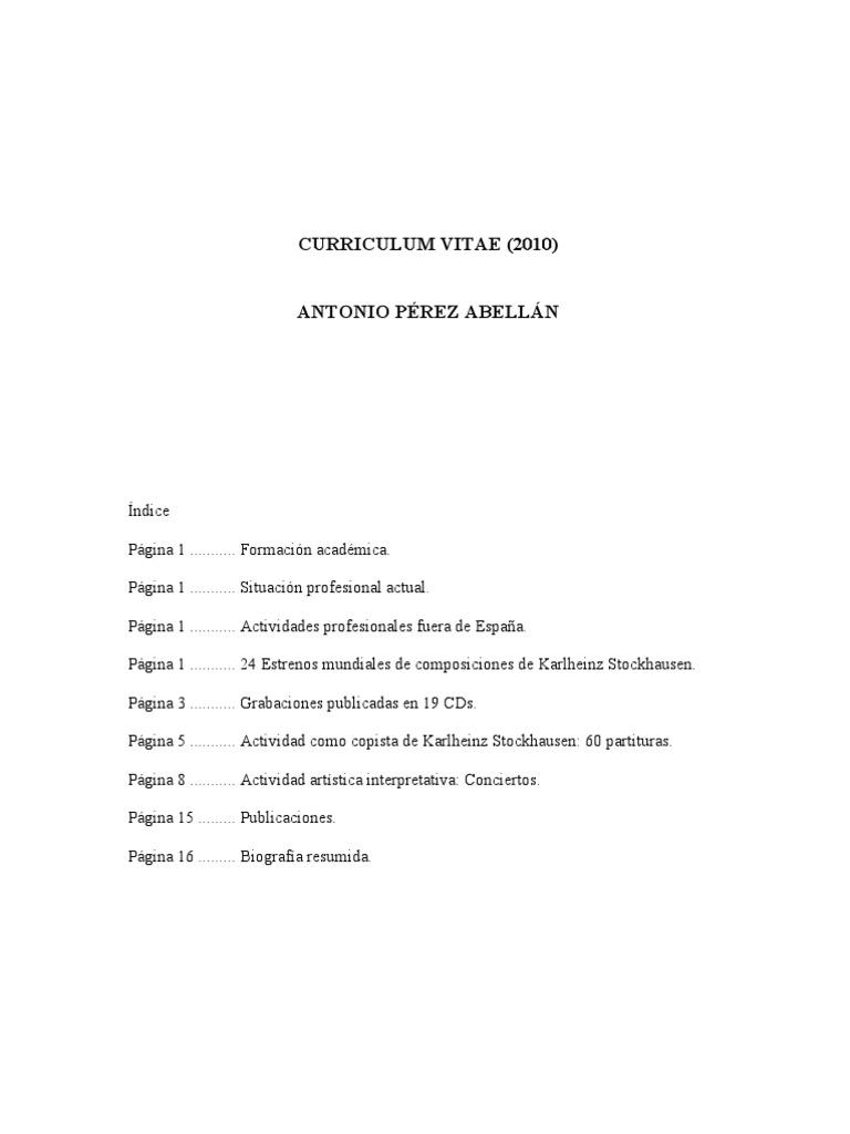 Antonio Pérez Abellán Profesor de Piano del Conservatorio de ...