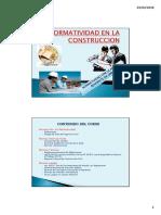 Clase N° 01  - INTRODUCCION - NORMATIVIDAD EN LA CONSTRUCCION