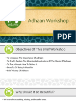 Adhan Workshop a slideshow on the Call to Prayer by Haramain Info