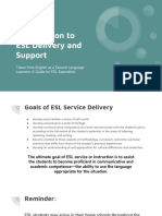 introduction to esl delivery and support
