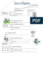 Active vs Passive Grammar Guides Reading Comprehension Exercises 15061