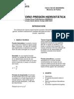 INFORME MECANICA FLUIDOS
