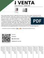 Celular Iphone 6 - 64GB GSm