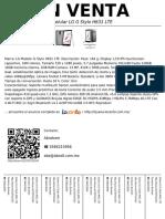 Celular LG G Stylo H631 LTE