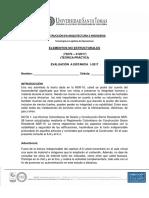 Evaluación a Distancia Elementos No Estructurales (1- 2017)