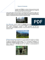 Parques de Guatemala, Monumentos de Guatemala
