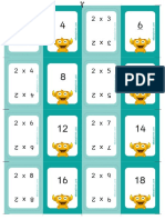 Tablas Multiplicar Flashcards Educaplanet
